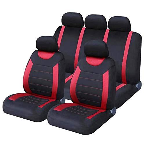 Sakura SS5293 Juego completo de fundas para asientos de coche, Rojo