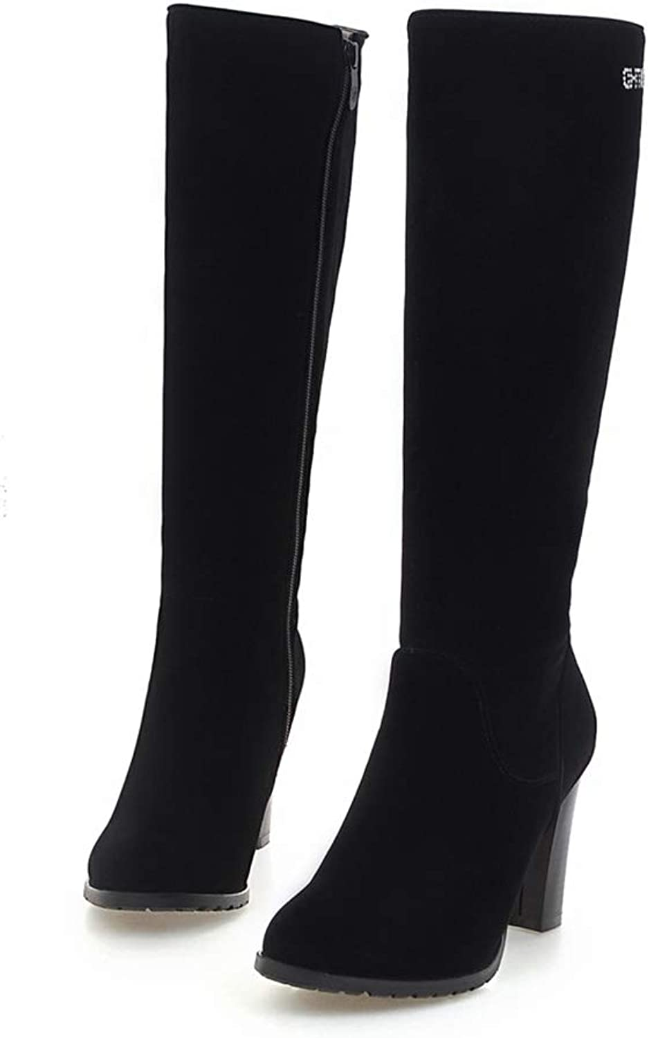 Trendy Knee-High Boots for Women Fashion Platform High Heels shoes Large Size 34-43