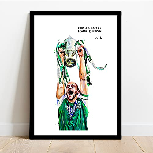 Hibernian FC Scottish Cup Final Framed Art Print - HIBS!