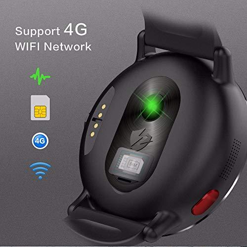 LEMFO LEMFO LEMX Smartwatch für Android 7.1 4G LTE 2,03 Zoll Display, MT6739, 1 GB + 16 GB 8 MP Kamera-Übersetzer, GPS, WLAN, Herzfrequenzmesser, Multi-Sport-Modus, Smartwatch für Männer und Frauen