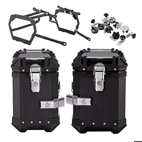 Maletas Laterales ALU + Soporte per Suzuki V-Strom 650 / XT 17-21 XB30-38 Negro