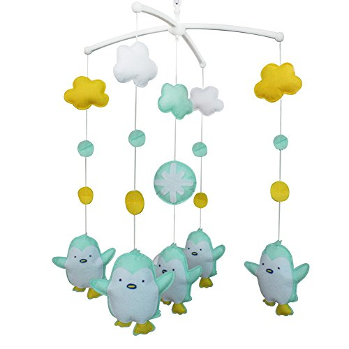 Wind-up Musical Mobile, Handmade Hanging Toy [Baby Penguin] Bed Bell