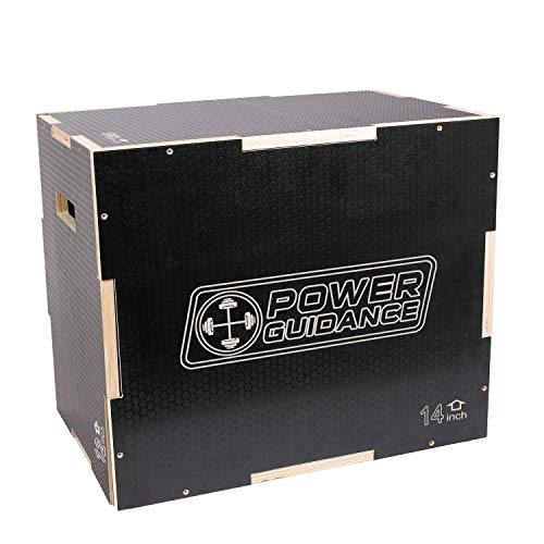 POWERGUIDANCE Caja pliométrica de Madera 3 en 1 - Ideal para Entrenamiento Cruzado -Plyo Caja de...