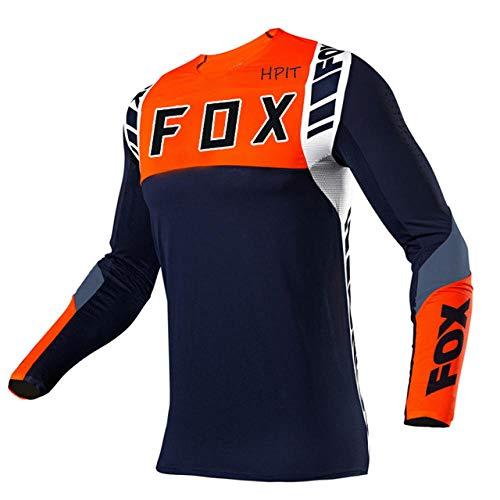 PYMNDZ Bicycle Jersey Long Sleeve Cycling Enduro Mtb Shirt Downhill T-Shirt Motocross Mx Mountain Bike Clothing Fox Mtb-Xxl