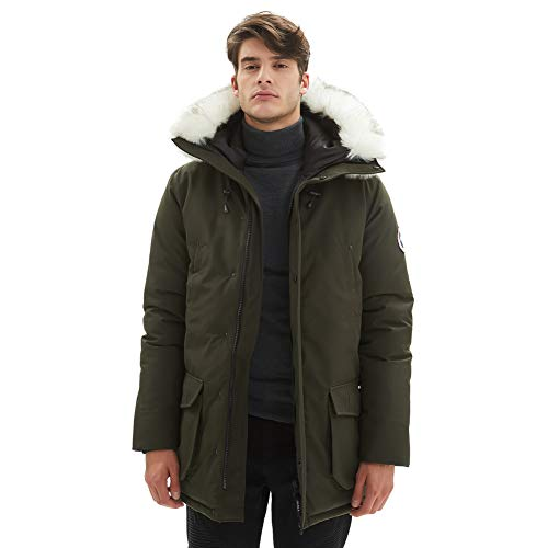 PUREMSX Men's Hooded Winter Military Jacket, Team Outdoor Thick Trench Coat with Patch Winter Coats...