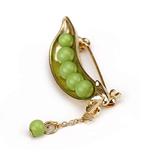 Fliyeong Fashion Wild Brooch Imitation Pearl Pea Brooch Female Scarf Acessories Clothing Accessories Creative and Useful