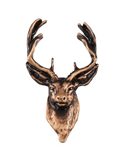 Copper Plated Whitetail Deer Front Pin MC007