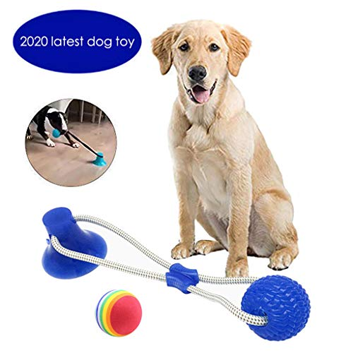 WXHNY Dog Toys Pet Supplies Interactive Molar Chewy Dog Toys with Rainbow Suction Ropes and Rainbow Balls for Large, Medium and Small Dogs