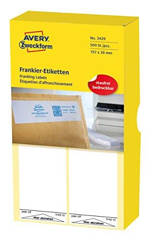 AVERY Zweckform 3429 Frankier-Etiketten (für Neopost, Papier matt, 157 x 39 mm) 500 Stück weiß