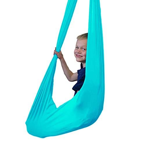 QHY Hamaca para Niños Swing de Terapia Swing De Terapia Columpio Interior para Niños De Más De 3 Años Hamaca Sensorial De Yoga Ideal para Autismo ADHD Aspergers Y Integración Sensorial