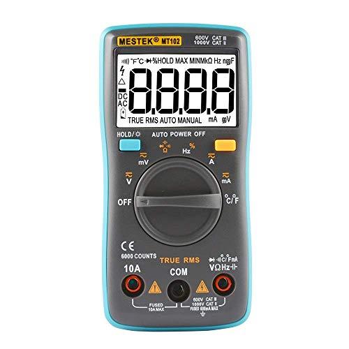 BJLWTQ Instrumento preciso multímetro Sonda profesional Tester Digital 6000 cuentas de los contadores Multímetros digitales Multi Meter Multitester