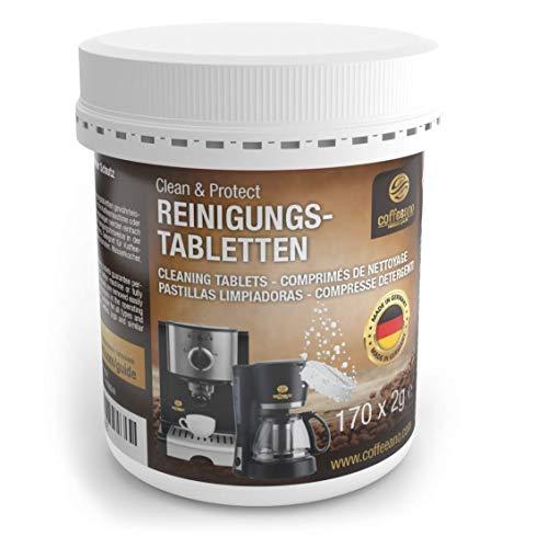 Coffeeano 170 Reinigungstabletten für Kaffeevollautomaten und Kaffeemaschinen Clean&Protect. Reinigungstabs kompatibel mit Jura, Siemens, Krups, Bosch, Miele, Melitta, WMF uvm.