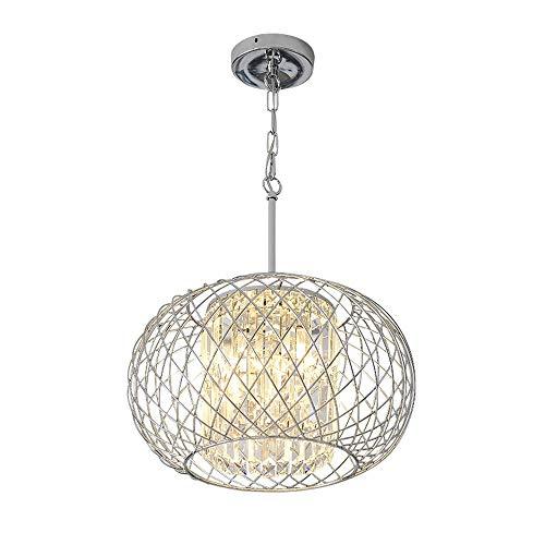 YLCJ kroonluchter postermodern minimalistisch mode ijzer water wafel rond woonkamer bar gang 45 x 50 cm E14 lampen A++