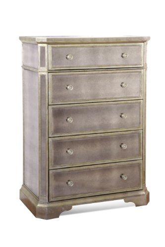 Big Sale Borghese Tall Mirrored 5 Drawer Chest