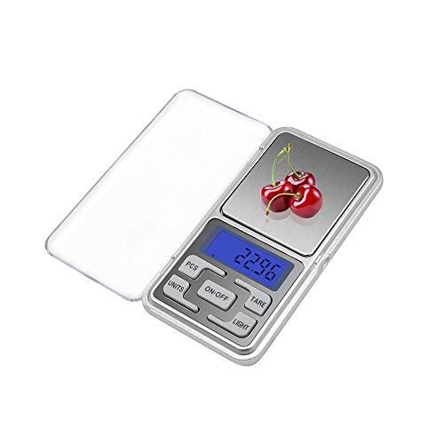 KEKEYANG 100/200/300 / 500g x 0.01/0.1g Joyas de Alta precisión Escala de Cocina Escala de Pantalla LCD electrónica Mini Escala Digital de Bolsillo Digital (Load Bearing : 500g x 0.1g)