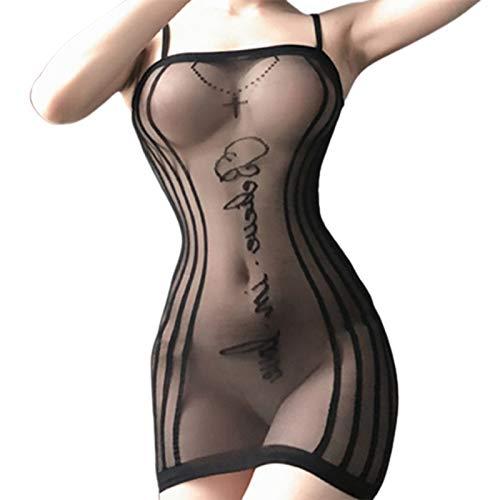 P12cheng Babydoll Lingeries Sexy Donna Hot per Sesso,Trasparente Sleepwear, Intimos Abito Aderente Aderente Slim Body Curve Trasparente Donna Chemis per Camera da Letto 1