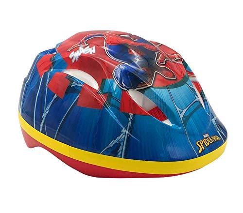 Marvel Spider-Man Kinder Fahrradhelm Blau/Rot | Schutzhelm für Kinder Gr. 51-55 cm verstellbar | Alter 3-12 Jahre