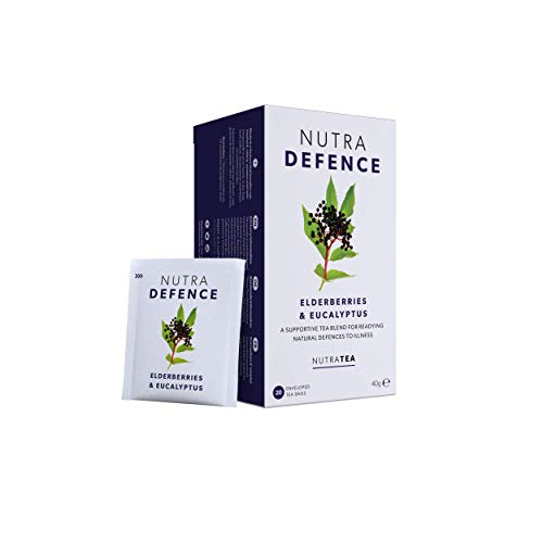 NUTRADEFENCE - Cold and Flu Tea | Cough Tea | Immune Tea - Providing Immune Support - Includes Eucalyptus, Elderberry and Mullein - 20 Enveloped Tea Bags - by Nutra Tea - Herbal Tea