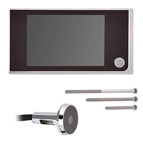 Mini 720P Pantalla HD Visor de cámara de mirilla electrónica para exteriores Pantalla LCD a color para interiores de 3,5 pulgadas Visual 120 ° Súper ancho, monitoreo de 24 horas Timbre de puerta