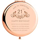 21st Birthday Gifts for Daughter Behind You All Your Memories Before You All Your Dreams 21 Birthday for Niece Her Granddaughter Inspiration Gifts Engraved Compact Mirror for Sister BFF Rose Gold