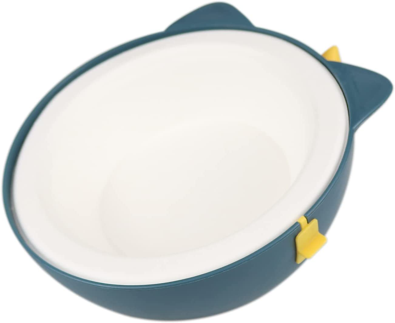 Cat Bowl,15°Tilted Cat Food Bowls,Non Slip Cat Feeding Bowls,Disposable Pet Food and Water Dishes for Cats,Puppies,Small Dogs and Rabbits