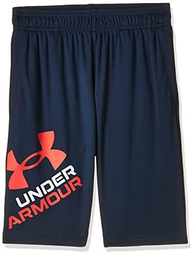 Under Armour, Prototype 2.0 Logo - Pantalones cortos para niño, Negro, XL