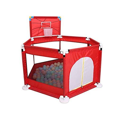 Box voor babys en babys, draagbare speeltuin voor peuters Lichtgewicht mesh babybox met ballen - rood/groen (kleur: rood-a)