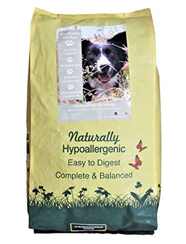 FutterXL 12kg Hundefutter Truthahn mit Reis - Hypoallergenes Premiumfutter mit vielen Vitaminen, Aminosäuren und Mineralien