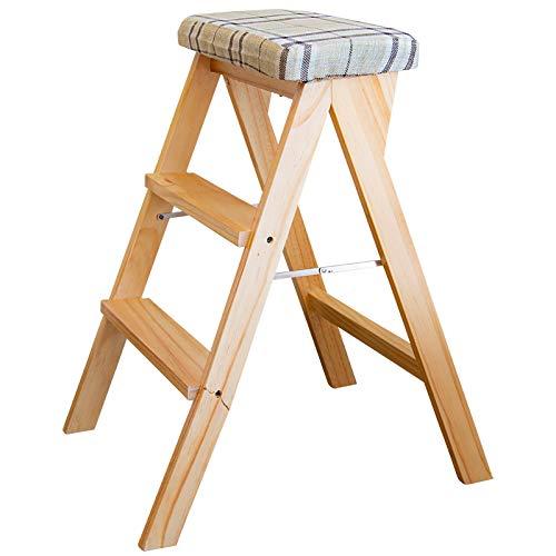 折りたたみ椅子 軽量 持ち運び 木製 おしゃれ スツール 3段 折りたたみ 踏み台@83508
