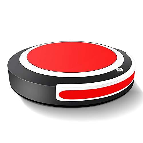 JQRXRQ Robot Aspirador Un botón para iniciar la inducción Evitación de obstáculos Aspiración Potente Polvo de Cabello Robot de Barrido doméstico