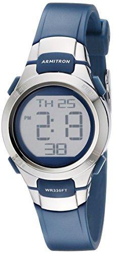 Armitron Sport Women's 45/7012NVSV Digital Watch with Matte Navy Strap