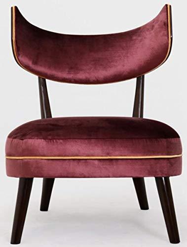 Casa Padrino sillón de salón Art Deco de Lujo con Respaldo Curvo púrpura/Naranja/marrón Oscuro 78 x 70 x A. 90 cm - Muebles de Lujo
