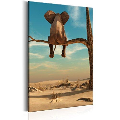 murando Cuadro en Lienzo Elefante Animales 60x90 cm 1 Parte Impresión en Material Tejido no Tejido Impresión Artística Imagen Gráfica Decoracion de Pared Arbol g-B-0033-b-b