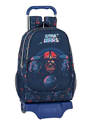 Safta Mochila Escolar con Carro de Star Wars  330x150x430mm  Multicolor