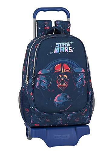 Safta Mochila Escolar con Carro de Star Wars, 330x150x430mm, Multicolor
