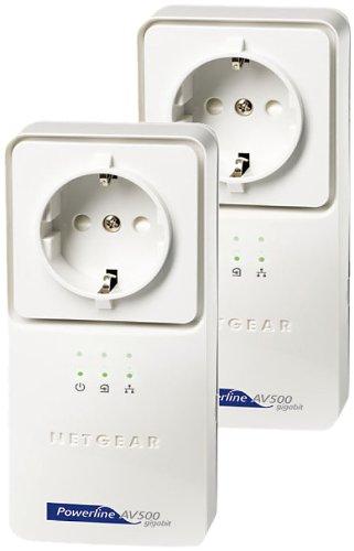 NETGEAR Powerline AV+ 500 Netzwerkadapter-Kit 2x XAV5501 (GR, Netzwerk aus der Steckdose)