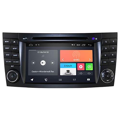 hizpo Radio de Coche estéreo Android 10 para Mercedes-Benz Clase E W211 2002-2009 Mercedes-Benz Clase G W463 2001-2008 Mercedes-Benz Clase CLS W219 2001-2011 WiFi Bluetooth Control en el Volante