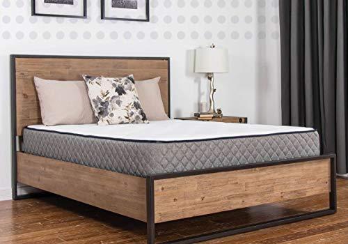 Bailey & Jensen Hybrid Full XL Gel Memory Foam Mattress, 10 Inch, , Bed in a Box, Certi-Pur, 10 Year Warranty, Made in USA, White/Black, Full Mattress, Medium Comfort Level