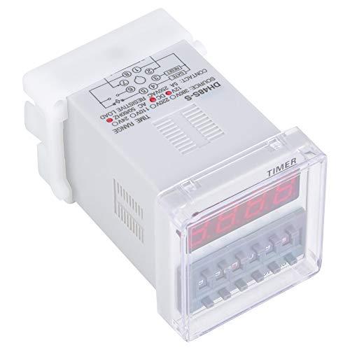 Relé de tempo de atraso, capa externa de ABS transparente DH48S-S, ampla utilização para controle automático para comunicação para mecatrônica (380VAC)