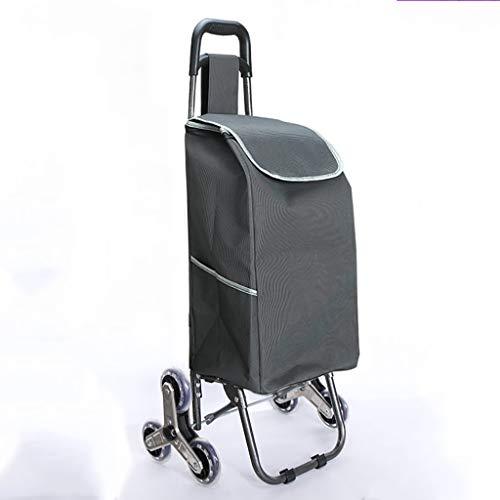 RTTgv Einkaufstrolleys Einkaufswagen - Faltwagen Nur 2,5 kg - Einkaufswagen mit Quiet Wheels - Einkaufswagen 60L bis 30kg Ladbar (Farbe : C)