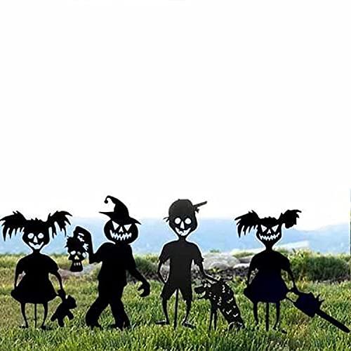 Cute Ghost Zombie Girl Garden Metal Stakes,Cute Ghost Zombies Metal Art,Halloween Yard Sign...