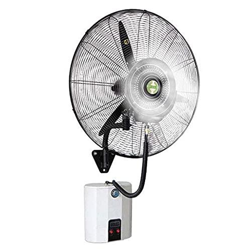 yanzz Ventilatore per impieghi gravosi Potenti ventilatori con Corno di spruzzo montati a Parete, Ventilatore Elettrico nebulizzatore oscillante, umidificatore Silenzioso con Raffreddamento a nebu