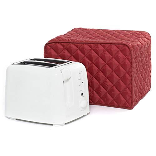 SOLUSTRE 1 Tapa para Tostadora para Tostadora de Ranura Larga de 2 Rebanadas Cubierta a Prueba de Polvo Cubierta para Electrodomésticos Y Protección Contra Huellas Dactilares (Rojo)