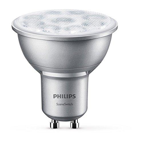 Philips 3-in-1 LED Lampe SceneSwitch ersetzt 50W, EEK A+, GU10 Reflektor, Dimmen ohne Dimmer, 8718696598580