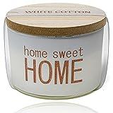 Selldorado® Vela aromática de algodón blanco 100 % para aromaterapia, larga duración de combustión de 10 horas, con tapa de madera, velas en vaso