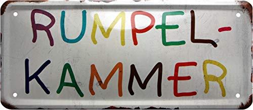 Rumpelkammer 1145 Plaque en tôle décorative pour Chambre d'enfant 28 x 12 cm