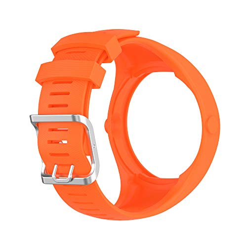 BoLuo Correa para Polar M200,Bandas Correa Repuesto,Correas de Reloj, Silicona Reloj Recambio Ajustable Brazalete Correa Repuesto Strap Wristband para Polar M200 GPS Running Watch (naranja)