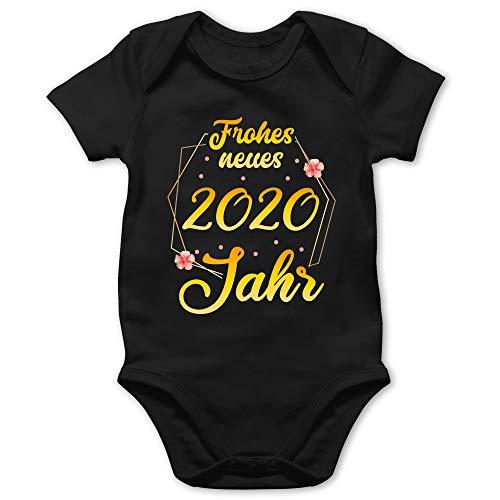 Weihnachten Baby - Frohes Neues Jahr 2020-18/24 Monate - Schwarz - Happy New Year 2019 Baby Body - BZ10 - Baby Body Kurzarm für Jungen und Mädchen