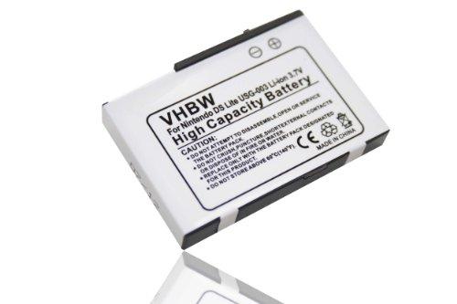 vhbw batteria compatibile con Nintendo DS Lite console di gioco (900mAh, 3,7V, Li-Ion)