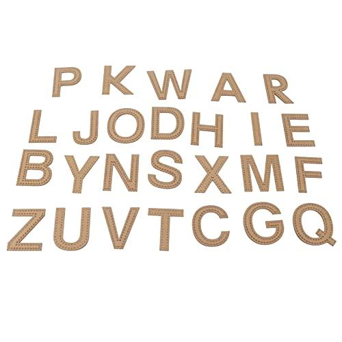 Gabarito de couro, gabaritos de desenhos Formato de letra para confecção de pingentes de chaveiro
